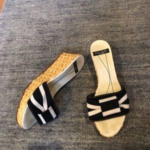 Kate Spade Bamboo wedge sandals